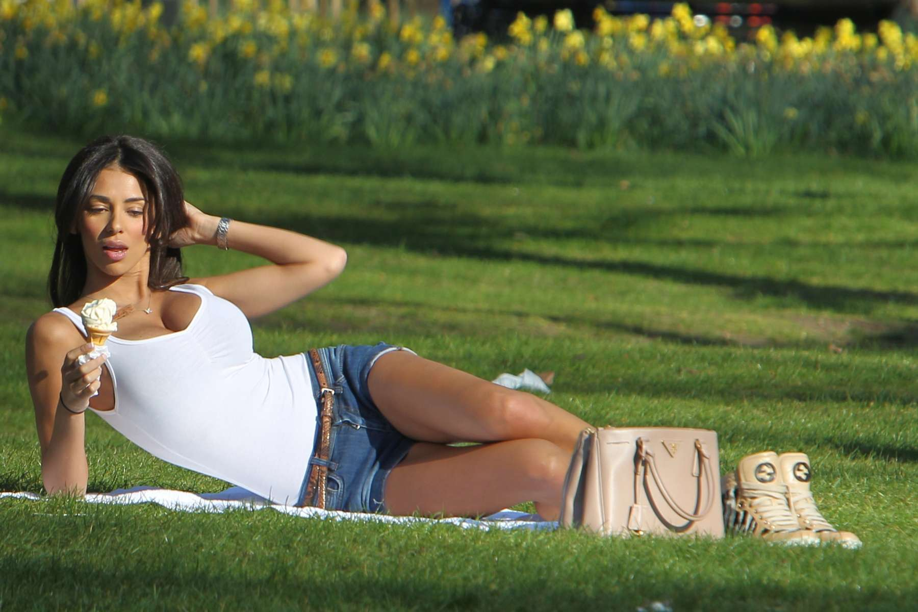 Georgia Salpa in a Park in London-13