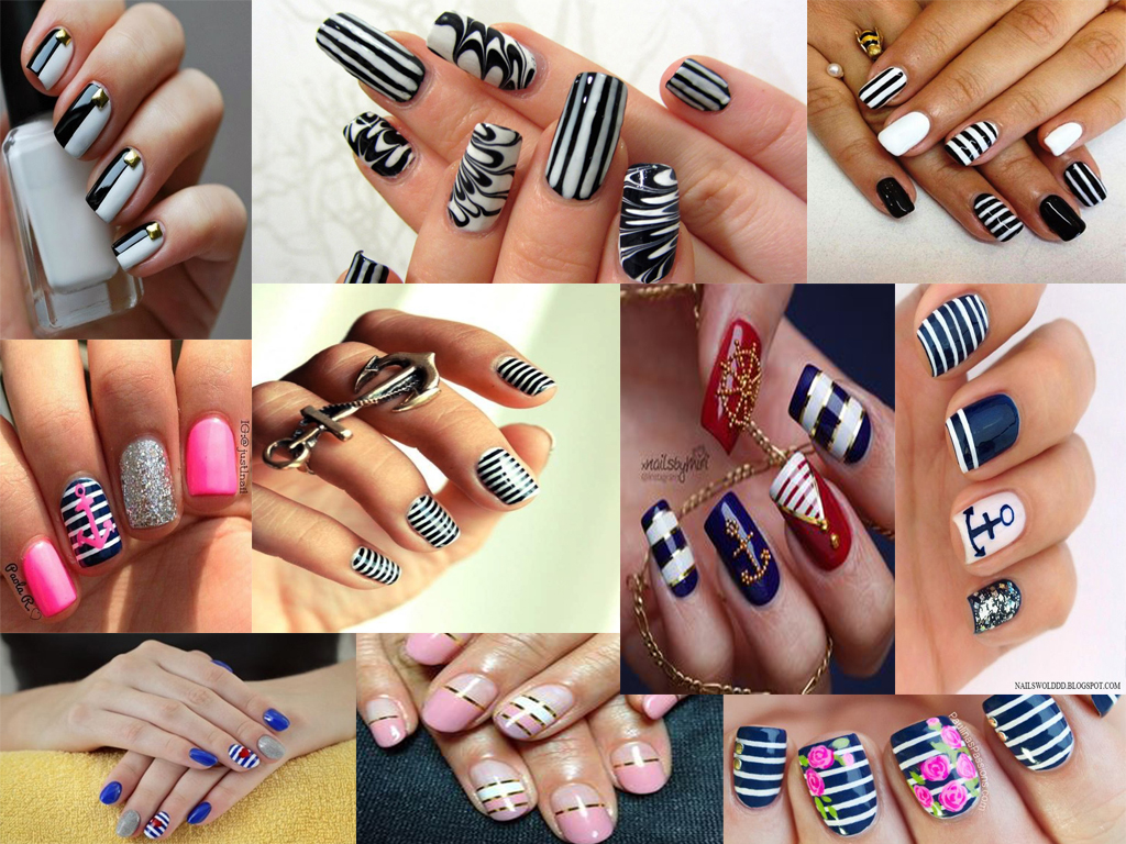 rige nixia striped nails
