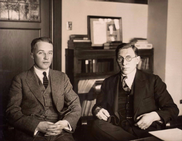 Banting right with Charles H. Best ca. 1924