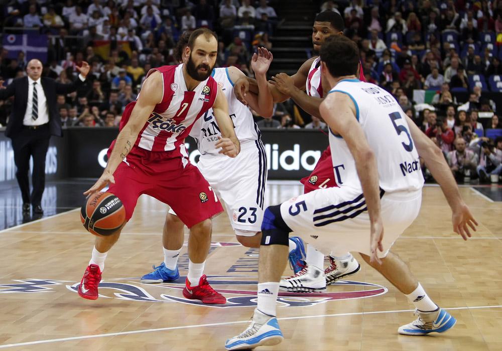 ÓÐÁÍÏÕËÇÓ  ÏËÕÌÐÉÁÊÏÓ - ÑÅÁË (ÔÅËÉÊÏÓ ÅÕÑÙËÉÃÊÁ 2012-2013 ÖÁÉÍÁË ÖÏÑ) SPANOULIS   OLYMPIAKOS - REAL (EUROLEAGUE 2012-2013 FINAL FOUR FINAL)